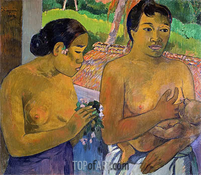 The Offering, 1902 | Gauguin| Painting Reproduction