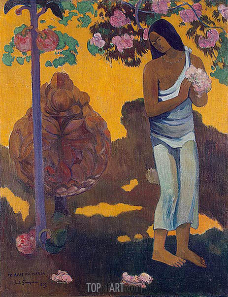 The Month of Mary (Te avae no Maria), 1899 | Gauguin | Painting Reproduction