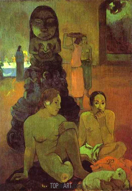 The Great Buddha, 1899 | Gauguin| Painting Reproduction