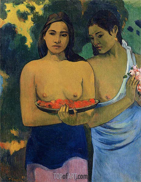 Two Tahitian Women, 1899 | Gauguin| Gemälde Reproduktion