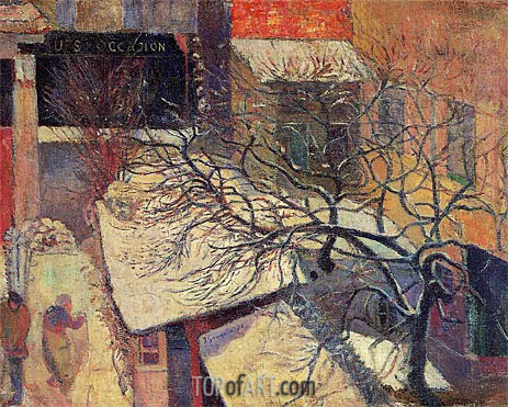 Paris in the Snow, 1894 | Gauguin | Gemälde Reproduktion