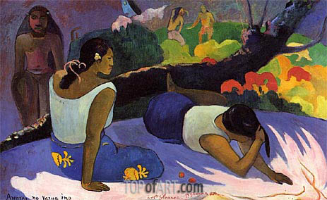 Gauguin | Arearea no vareua ino (Pleasures of the Evil Spirit), 1894