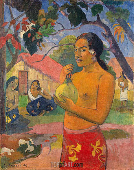 Where Are You Going (Eu haere ia oe), 1893 | Gauguin| Painting Reproduction
