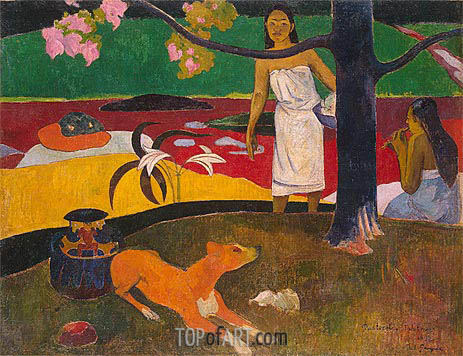 Pastorales Tahitiennes, 1892 | Gauguin | Painting Reproduction