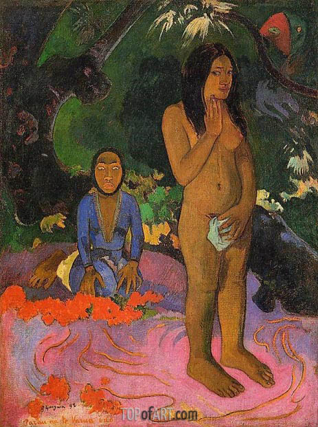 Parau na te varua ino (Words of the Devil), 1892 | Gauguin| Painting Reproduction