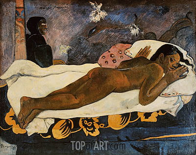 Manao Tupapau (Spirit of the Dead Watching), 1892 | Gauguin| Painting Reproduction
