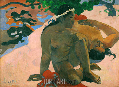 Aha oe Feii (What Are You Jealous), 1892 | Gauguin| Painting Reproduction