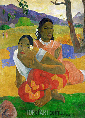 Nafeaffaa Ipolpo (When Will You Marry), 1892 | Gauguin | Gemälde Reproduktion