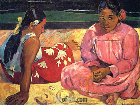 Gauguin | Two Woman on the Beach, 1891