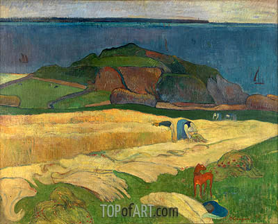 Seaside Harvest, Le Pouldu, 1890 | Gauguin| Painting Reproduction