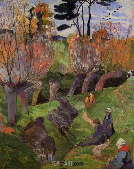 The Willows, 1889 | Gauguin| Painting Reproduction