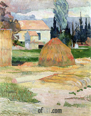 Haystack, near Arles, 1888 | Gauguin| Painting Reproduction