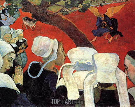 The Vision after the Sermon, 1888 | Gauguin| Painting Reproduction