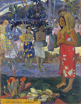 Ia Orana Maria (Hail Mary), 1891 | Gauguin| Painting Reproduction