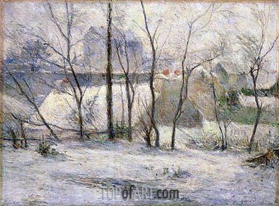 Winter Landscape, 1879 | Gauguin| Painting Reproduction