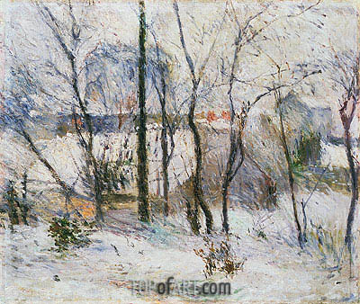 Garden under Snow, 1879 | Gauguin| Painting Reproduction