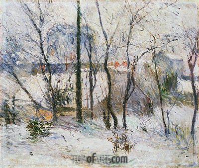 Gauguin | Garden under Snow, 1879
