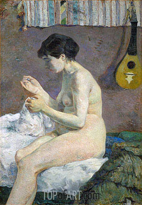 Nude, 1880 | Gauguin | Painting Reproduction