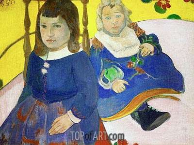 Two Children, 1889 | Gauguin | Painting Reproduction