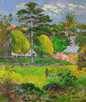 Landscape, 1901 | Gauguin | Painting Reproduction