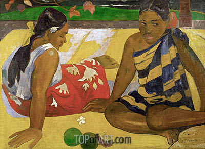 Parau Api (What's New), 1892 | Gauguin| Painting Reproduction