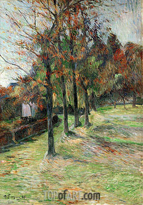 Road in Rouen, 1885 | Gauguin | Gemälde Reproduktion