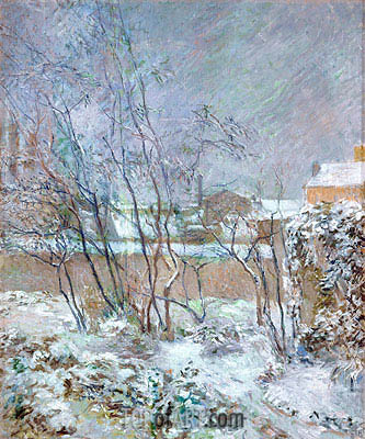 Snow in the rue Carcel, 1883 | Gauguin| Painting Reproduction