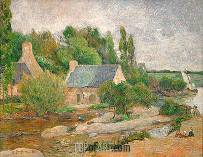 Gauguin | Washerwomen in Pont-Aven, 1886
