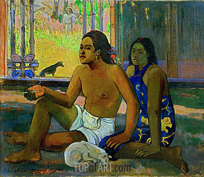 Eiahe Ohipa - Do not Work, 1896 | Gauguin| Painting Reproduction
