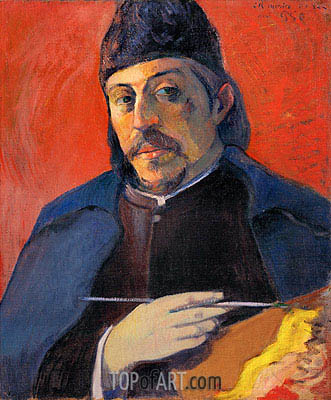 Self Portrait with Palette, c.1893/94 | Gauguin| Painting Reproduction