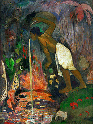 Pape Moe (Mysterious Water), 1893 | Gauguin | Painting Reproduction