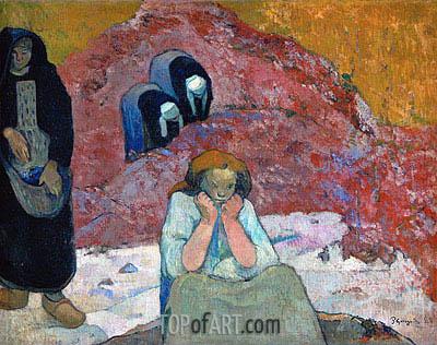 Gauguin | Harvesting of Grapes at Arles (Human Misery), 1888