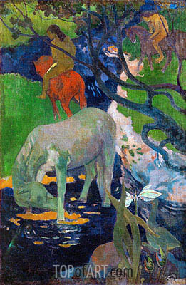 White Horse, 1898 | Gauguin| Painting Reproduction