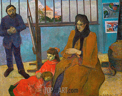 The Studio of Painter Emile Schuffenecker, 1889 | Gauguin | Painting Reproduction