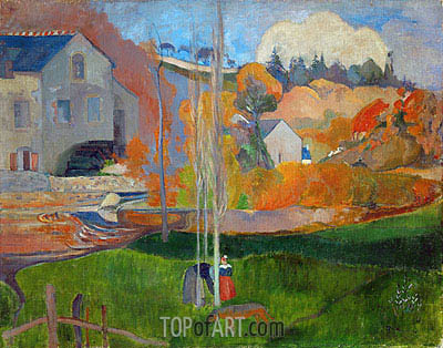 The Mill David, Landscape in Brittany, 1894 | Gauguin | Painting Reproduction