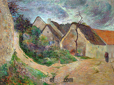 Osny, Mounting Road, 1883 | Gauguin | Gemälde Reproduktion
