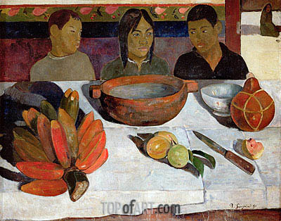 The Meal, Bananas, 1891 | Gauguin| Painting Reproduction