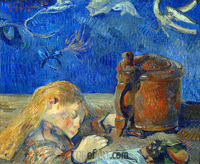 The Sleeping Child, 1884 | Gauguin| Painting Reproduction