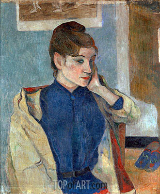 Portrait of Madeleine Bernard, 1888 | Gauguin| Painting Reproduction