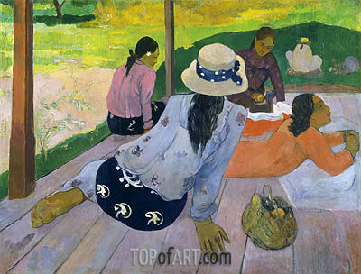 The Siesta, c.1892/94 | Gauguin | Painting Reproduction
