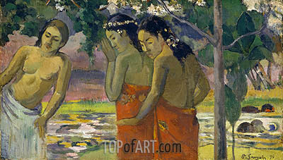 Three Tahitian Women, 1896 | Gauguin| Painting Reproduction