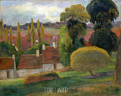 A Farm in Brittany, 1894 | Gauguin | Painting Reproduction