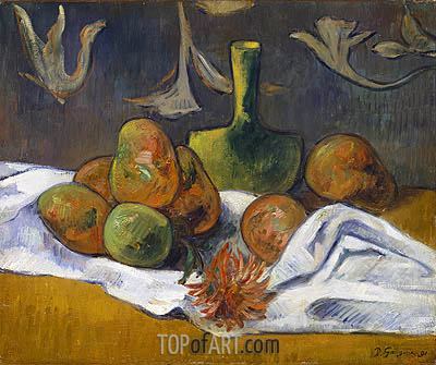 Still Life, 1891 | Gauguin | Painting Reproduction