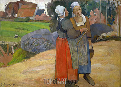 Breton Peasant Women, 1894 | Gauguin| Painting Reproduction
