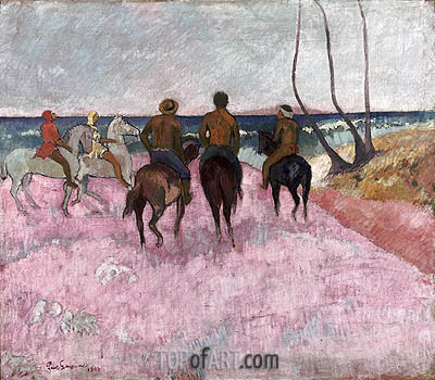 Riders on the Beach, 1902 | Gauguin | Gemälde Reproduktion