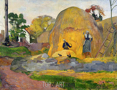 Yellow Haystacks (Blond Harvest), 1889 | Gauguin | Gemälde Reproduktion