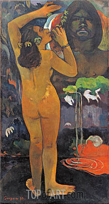 The Moon and the Earth, 1893 | Gauguin | Painting Reproduction