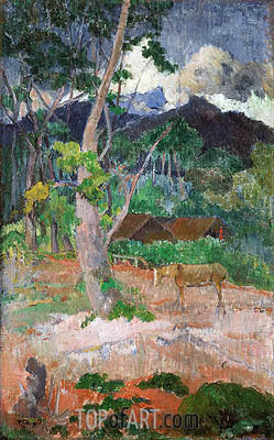 Landscape with a Horse, 1899 | Gauguin| Painting Reproduction