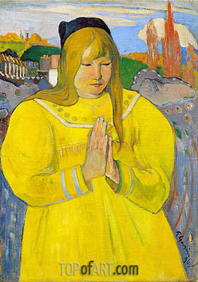 Breton Girl in Prayer, 1894 | Gauguin | Gemälde Reproduktion
