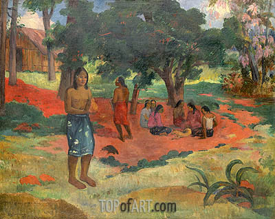 Parau Parau (Whispered Words), 1892 | Gauguin | Painting Reproduction